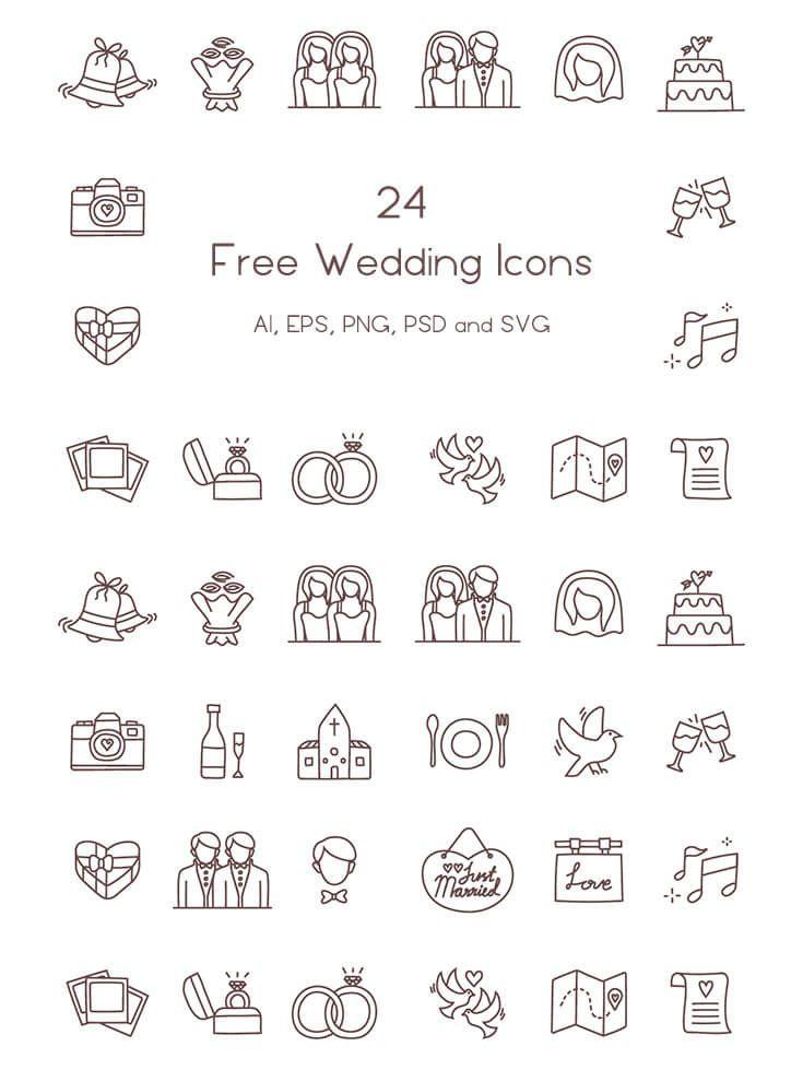 24 Free Wedding Icons | Icons | Wedding icon, Wedding ...