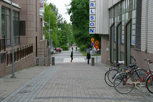 Ajurinkatu towards the Music Centre.