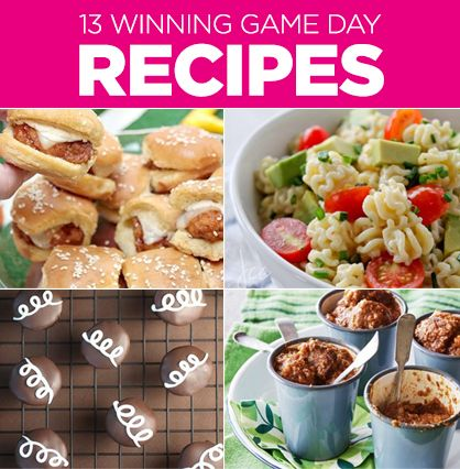 Football Recipes for Game Day