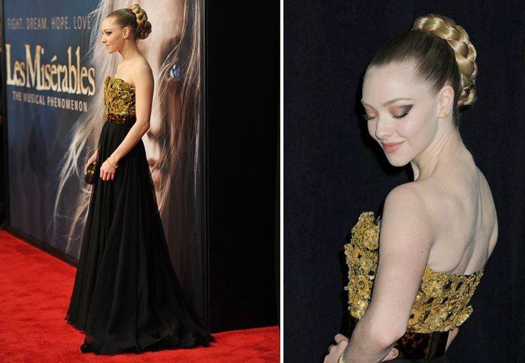 Trucco per vestito nero e oro