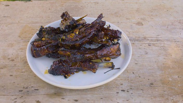 Lamb ribs with orange, sweet soy and star anise recipe : SBS Food