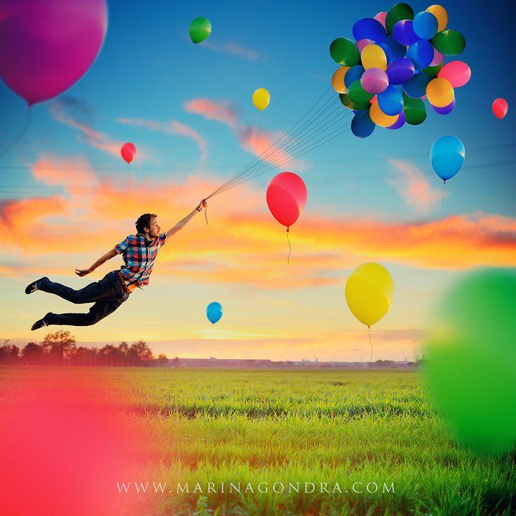 Balloons in the Sky by Marina Gondra
