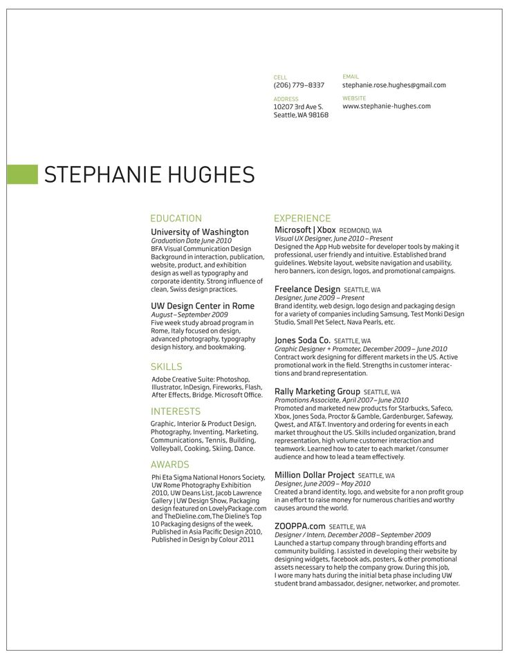 Best Clean Resumes Images On   Resume Layout Resume