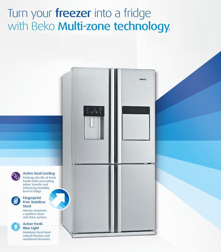 Multi-zone technology allows to turn your freezer into a fridge.