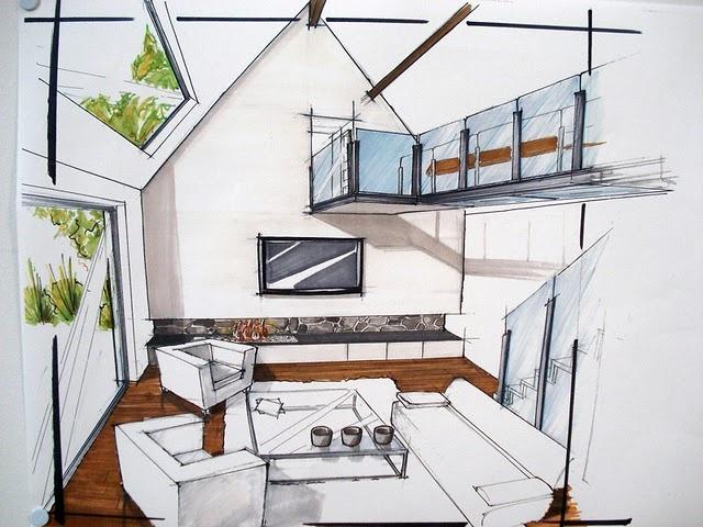 1000 id es sur le th me croquis de design d 39 int rieur sur for Dessin architecture interieur