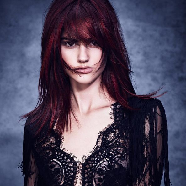 Fall Hair Color inspiration achieved by Aveda's newest hair color technique, Eclipting Color.