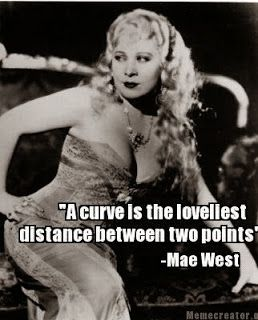 Mae West, curvy and beautiful