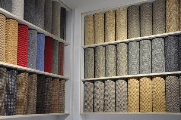 Sisal and Indoor/Outdoor samples display