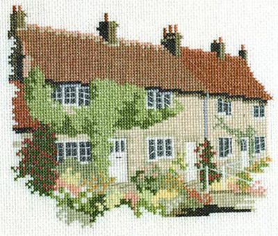 Yorkshire Moor Cottages Cross Stitch Kit from Derwentwater Designs