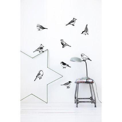 Drawing Birds wallsticker
