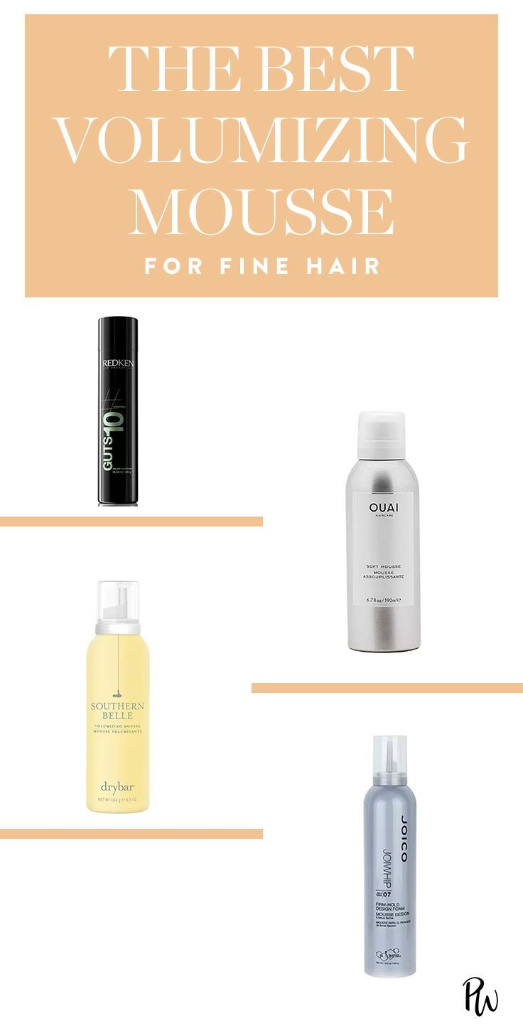 The Best Volumizing Mousses To Take Fine Hair To The Next Level Finehair Volumizingmousse Volume Best Volumizing Mousse Volumizing Mousse Best Hair Mousse