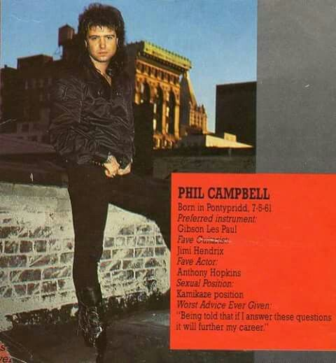 Phil Campbell. MOTORHEAD