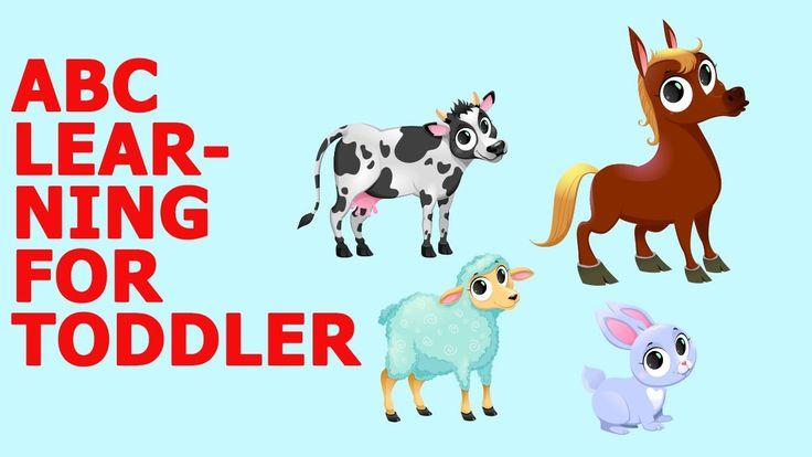 Learn Alphabet with Cartoon & Real Animals for children   ABC Wild Anima...