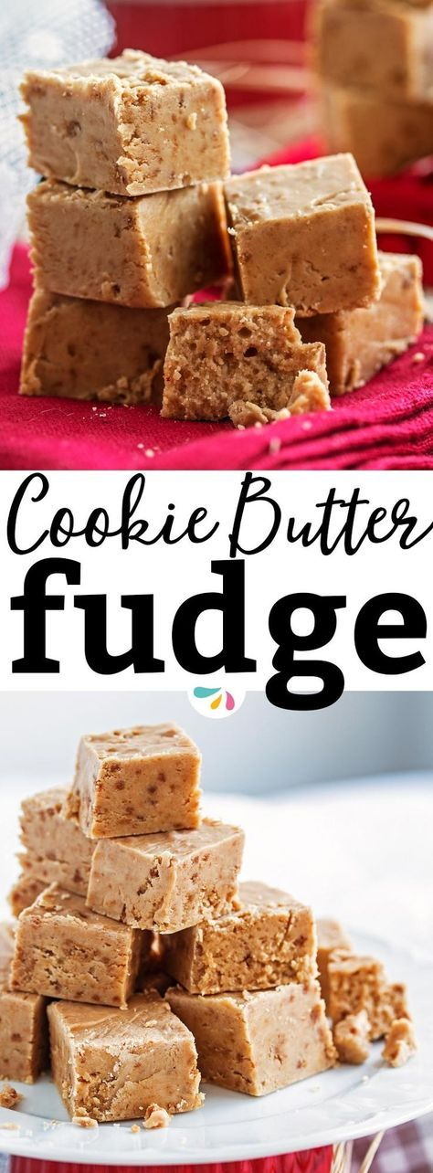 Try this easy 4 ingredient cookie butter fudge for Christmas this year!