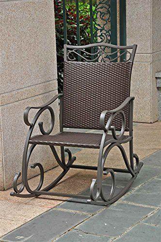 $181 Wicker Resin/Steel Porch Rocker International Caravan