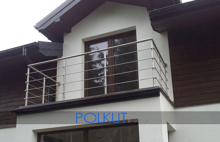 balustrada ze stali nierdzewnej wykonana z rury fi 42,4mm
