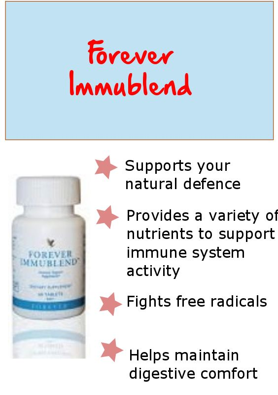 Forever Immublend is designed to support your natural defences by addressing all aspects of the immune system from its first line defence to its last.