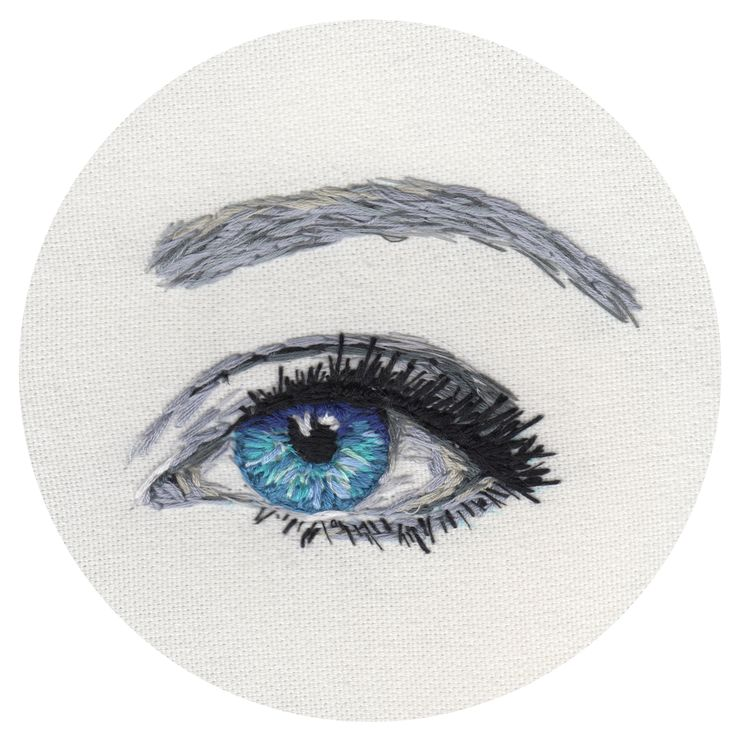 embroidered eye  www.sparklymouse.co.uk
