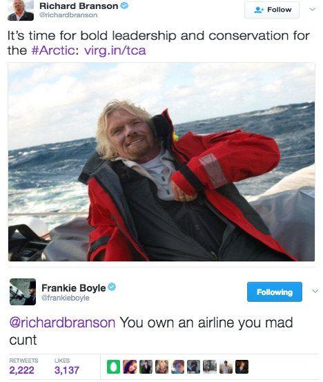 When Frankie Boyle got pretty personal with Richard Branson. | 19 Times Scottish Celebrities Were Savage AF
