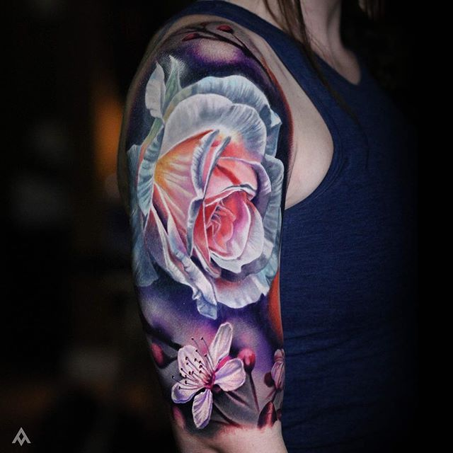 Best 23 Realistic Rose Tattoos With A Quote Ideas On