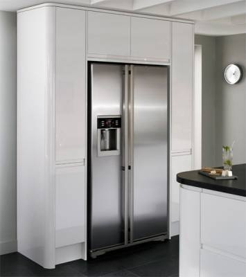NEW Extra Tall Larder Units and NEW Extra Tall Bridging Unit with Lamona Deluxe Frost Free American Fridge Freezer