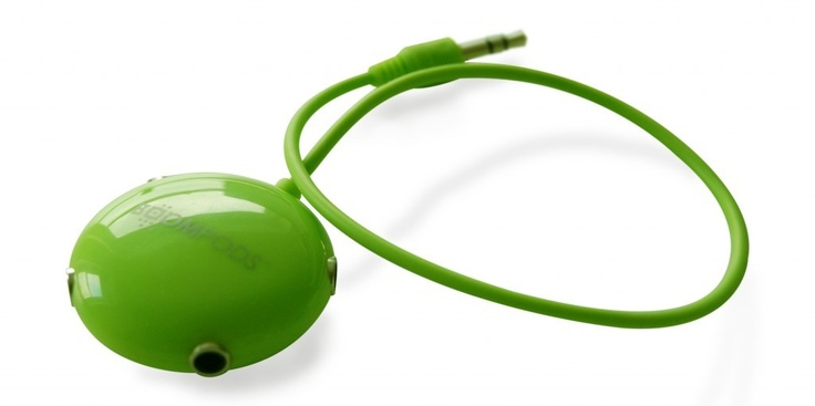 Multipod Audio Splitter - Lime Green