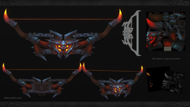 ArtStation - Weapons series -BatBow, Daniel Orive