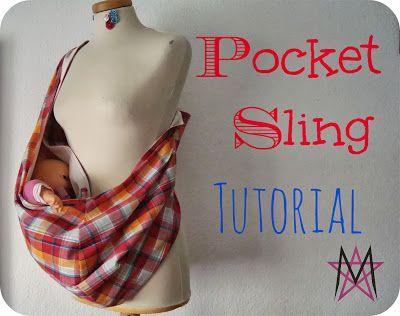 Pocket sling tutorial Diy baby carrier