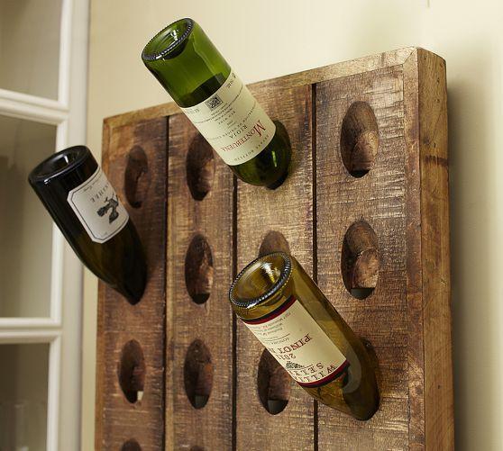 French Wine Bottle Riddling Rack Pottery Barn