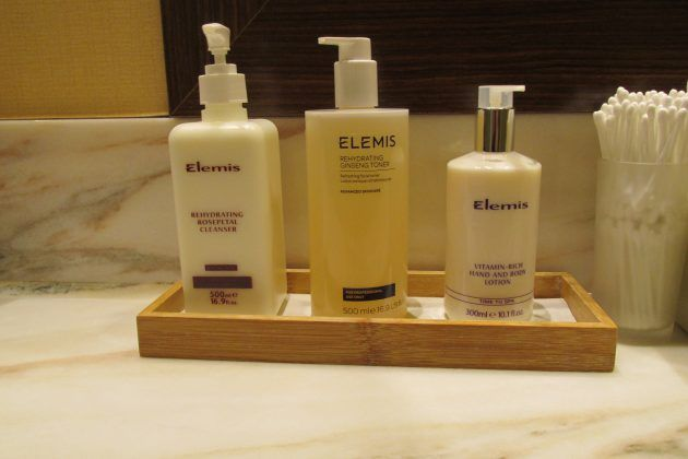 Disney Cruise Gym: Elemis Spa products are complementary in the locker rooms on DCL.