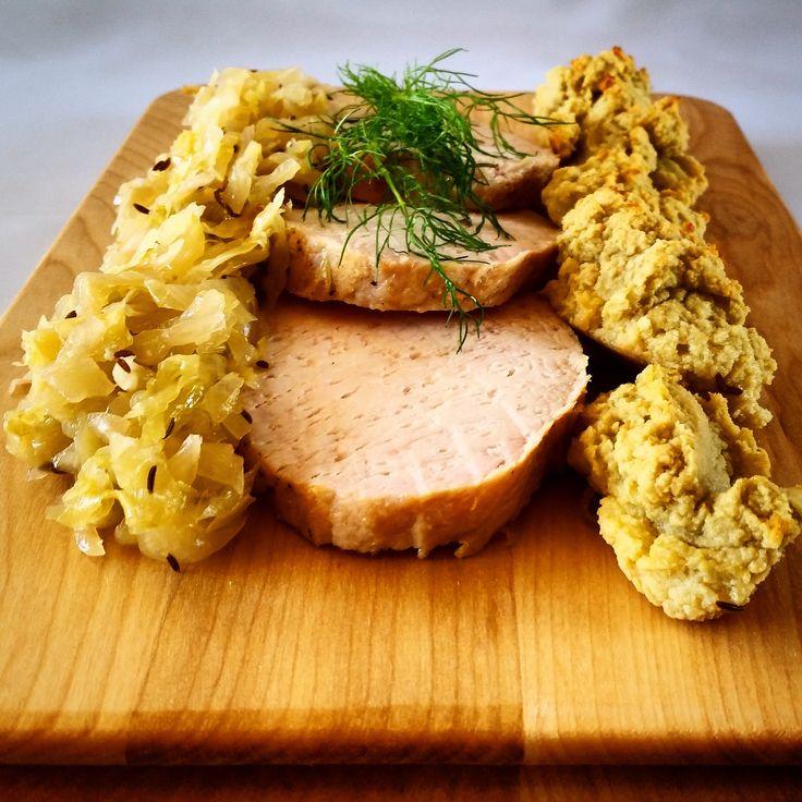 Paleo Pork, Sauerkraut and Dumplings