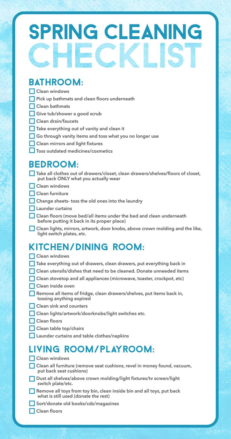 Spring cleaning checklist bathroom clean windows pick up - How to thoroughly clean your bathroom ...