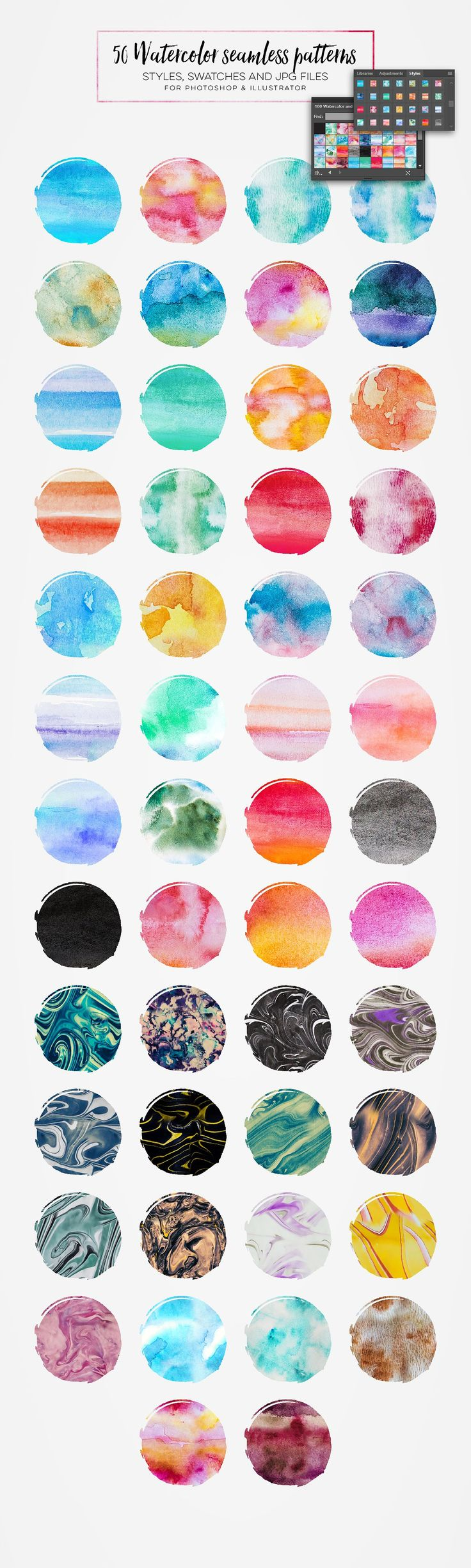 Artsy Watercolor Designer Toolkit by Zeppelin Graphics on @creativemarket
