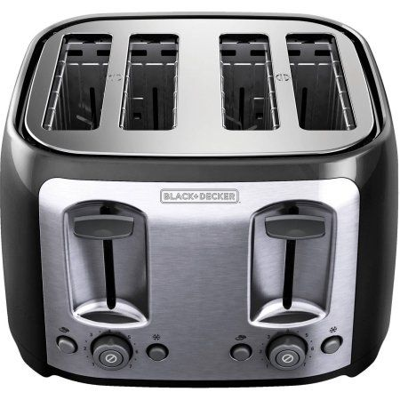 BLACK+DECKER 4-Slice Toaster, TR1478BD at Walmart.com