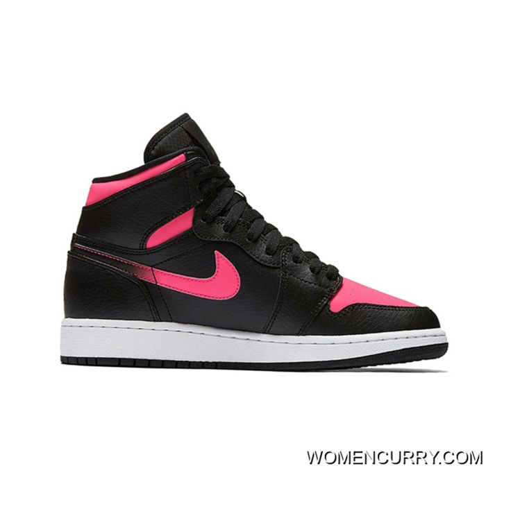 Top Deals New Air Jordan 1 Gs BlackHyper PinkAnthracite