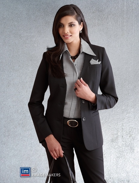 Nice ladies suit, not sure about shirt!