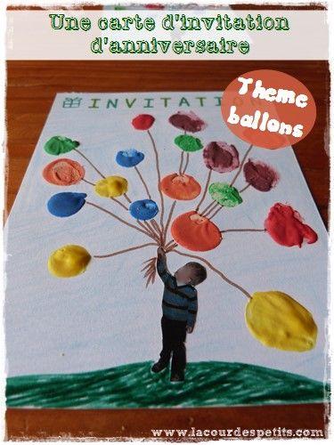 Fabriquer un carton d'invitation pour son anniversaire #anniversaire #ballon #invitation http://www.lacourdespetits.com/carton-invitation-anniversaire-enfant/