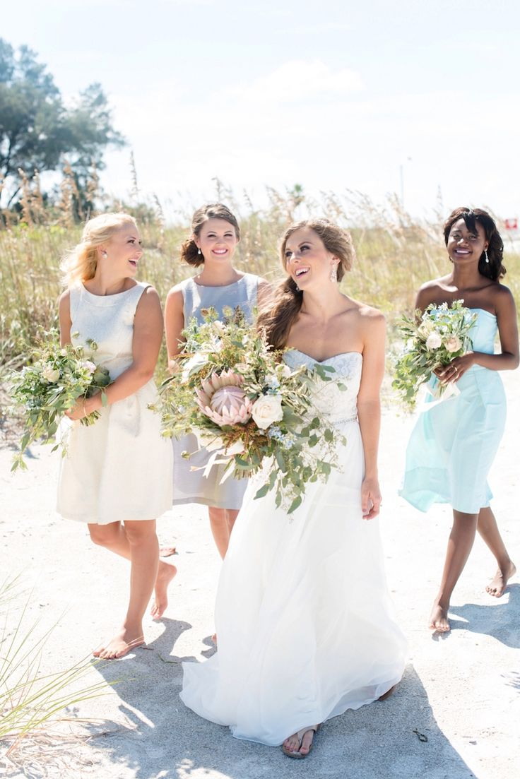 144 best mmtb wedding party images on pinterest bridesmaids st pete beach coastal wedding portrait bride with bridesmaid in dessy bridal gowns at ombrellifo Image collections