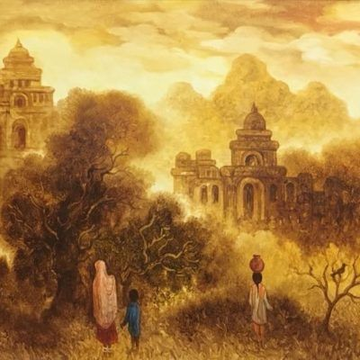 Landscapes depict elements of nature, be it a Village Scenery . Original Certified Landscape Art with more than 200 options by top Famous indian artists available on the online gallery at Tarunartgallery.com . Fully Authentication of Artwork Direct From Artist & Get in very Affordable Prices .