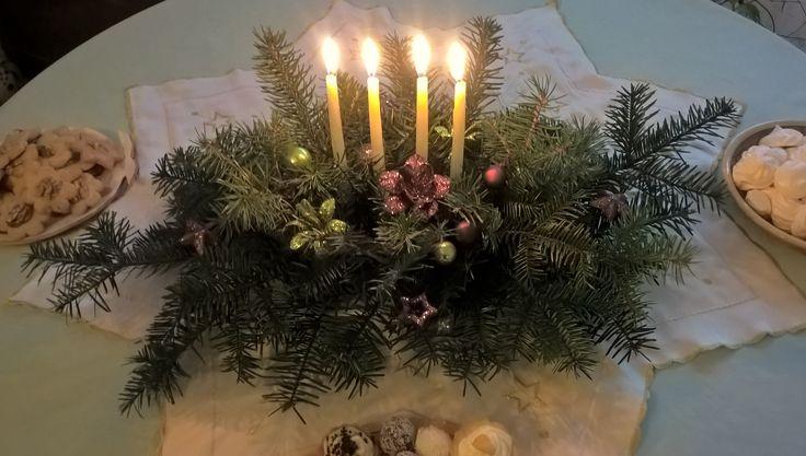 Christmas decoration svicen na vánoční stul