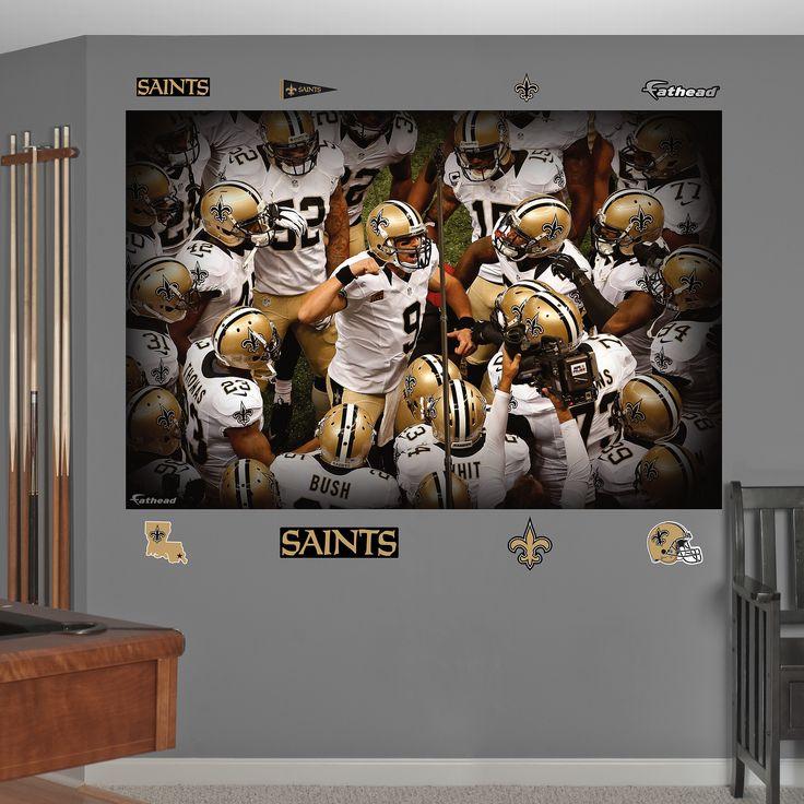 New Orleans Saints Man Cave Ideas : New orleans saints team mural