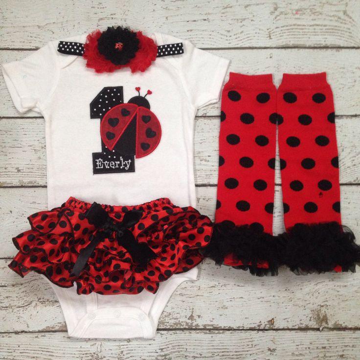 so want for baby girl for her birthday Ladybug birthday Bloomer set/Lady Bug by BabyTrendzz on Etsy
