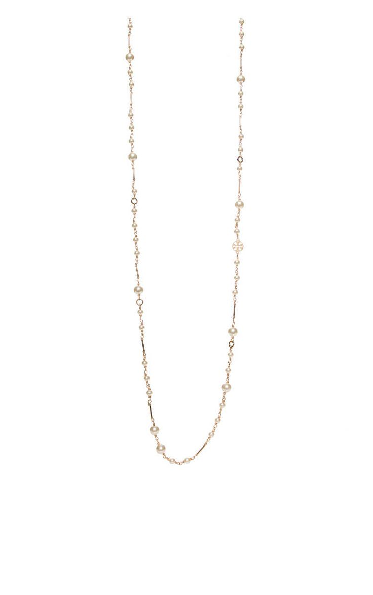 Halsband Crystal-Pearl Chain Rosary IVORY/GOLD - Smycken - Accessoarer - Raglady