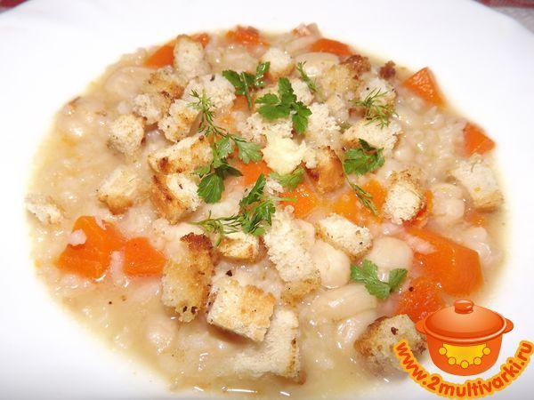 Постный суп из тыквы с жаренным рисом в мультиварке – фото рецепт приготовления