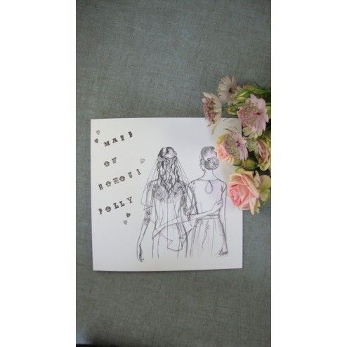 £4.00 Handmade Maid Of Honour Thank You Card