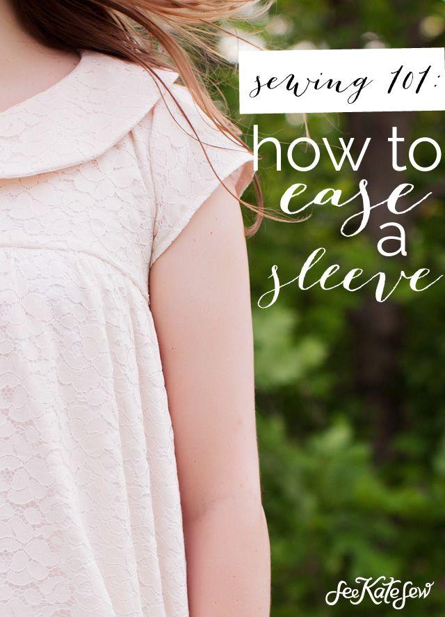 sewing 101: how to ease stitch a sleeve into an armscye // seekatesew.com