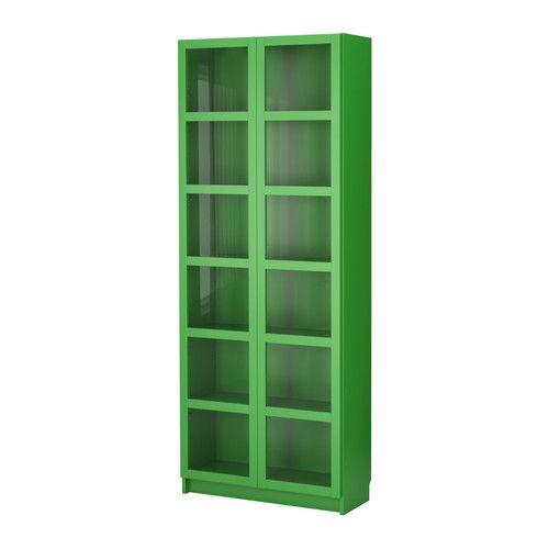 BILLY  Bibliothèque vitrée, vert