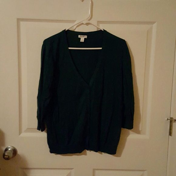 Green cardigan Old Navy Hunter green cardigan Old Navy Sweaters Cardigans