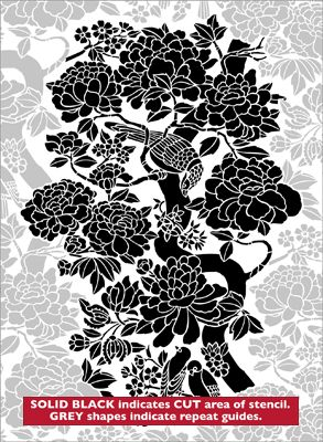 Buy Birds U0026 Peonies Stencil From The Stencil Library Range Of CHINOISERIE  Stencils.