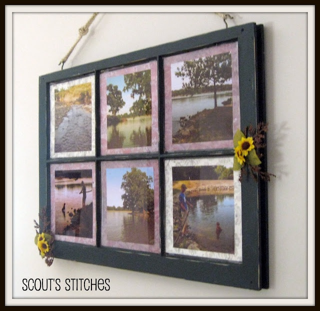 repurposed window picture frame - Window Frame Picture Frame